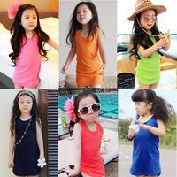 Free shipping fashion new 2014 summer dress kids candy color girl dress baby & kids dress beautiful dress