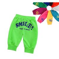 Free shipping new 2014 fashion summer boys girls pants child frozen emoji pant baby & kids pant