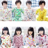 Free shipping 2014 spring&autumn boys girls clothing underwear children lounge set kids leisure wear sets cotton long Johns suit