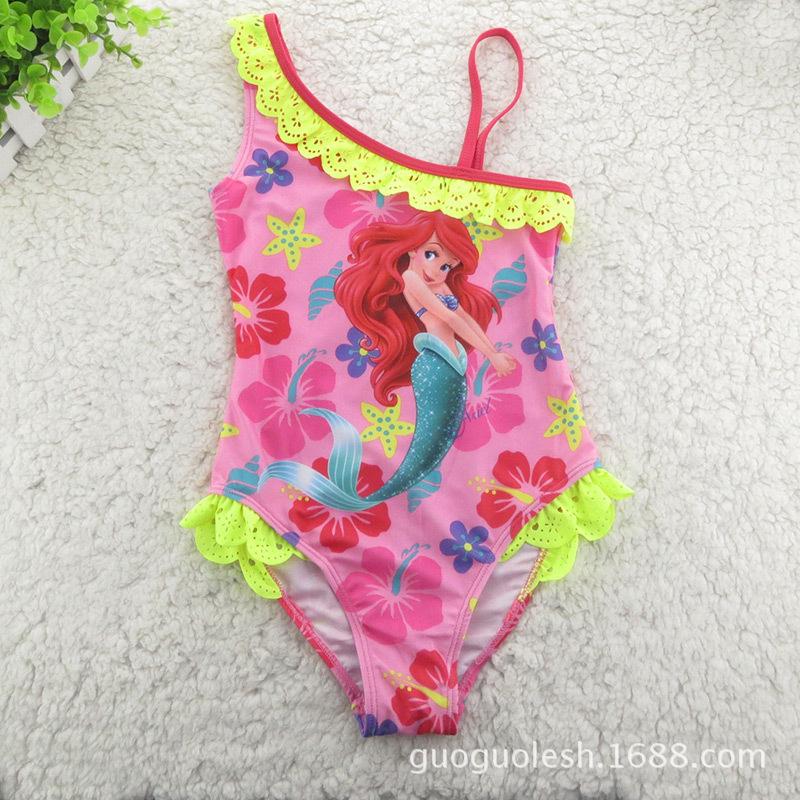 AliExpress.com Product - 2014 Retail Mermaid Swimsuit Swimsuit Girls Swimwear Red One Pieces Bikini Children's Swim Wear Clothing Free Shipping DA162
