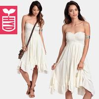 2014 summer tube top one-piece dress irregular sweep racerback princess dress