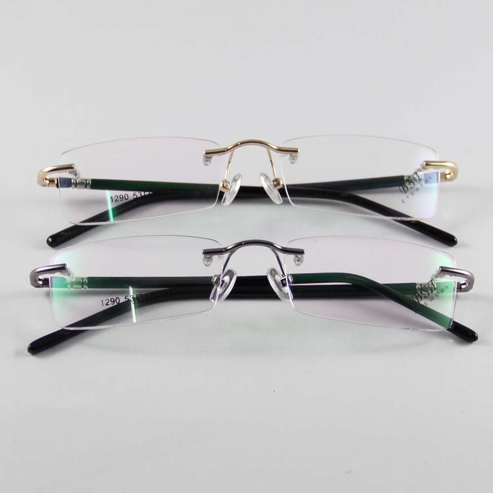 Fashion Eyewear Unisex Glasses Frame Concise Design Rimless Eyeglasses Men Women Name Brand Glasses Spectacles Optical Goggles(China (Mainland))