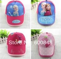 girls Cartoon Frozen baseball cap Summer peppa pig hat children's hat accessory 3-8ages
