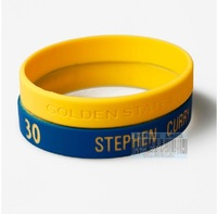 Free shipping 2014  Basketball silicone wristbands sports Curry  30 Fans Souvenirs