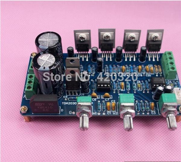 Eletrônico 2014 novo + / - 12VAC TDA2030A TDA2030 placa amplificador subwoofer kit eletrônico Kits 2 * 18 W + 36 W kit diy(China (Mainland))