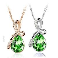 Z-023 fashion austrian crystal angels tears necklace female chain