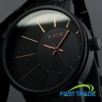 Japan Quartz Movement Never Fade Black Full Stainless Steel SINOBI Brand Wristwatches Luxury Business Causal Men Watch