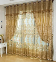 High Quality Screen Luxury  Fashion Hot Selling Tulle Curtain Brief Elegant Customize window curtain living room