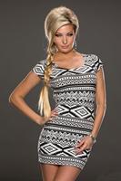 2014 Brand New Vintage Fashion Women's Mini Dress High Quality Popular Ladies' Casual Dresses Free Shipping