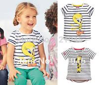 retail new 2014 brand children clothing t shirts fashion 18M~6T boys and girls tops cartoon cotton summer baby kids t-shirt 5940
