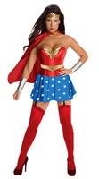 Supergirl Wonder Woman Corset Costume  Sexy  Superhero Cosplay Halloween Costume