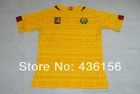 2014 world cup Cameroon Away Yellow soccer jersey A+++ Thailand Quality Cameroon Yellow jerseys Size S-XL Free shipping