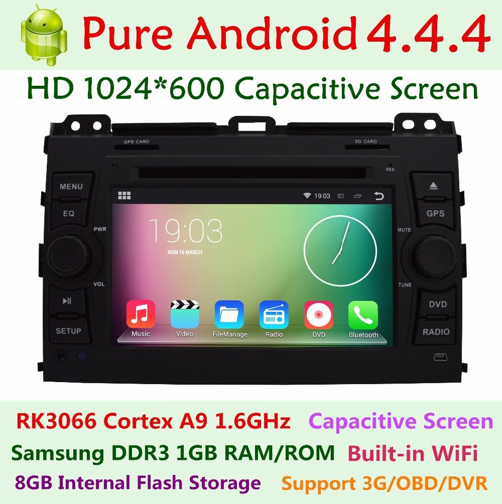"7"" Capacitive Toyota Prado Land Cruiser 120 2002-2009 Car DVD Player Pure Android 4.2.2 Dual Core 3G WIFI Radio GPS Navigation(China (Mainland))"