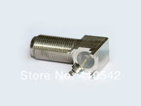 Free shipping F connector F female Jack right angle with PCB mount
