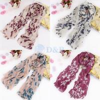 hot women winter scarf fashion style silk scarf polka velvet scarf chiffon Bohemia plaid Scarf free shipping 80056