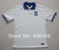 2014 world cup Greece Home White soccer jersey A+++ Thailand Quality Greece White jerseys Size S-XL Free shipping