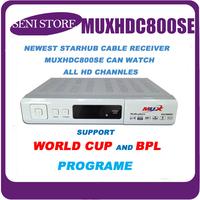 2014 Original! White MUXHDC800SE Receiver cable HDTV Receiver for Singapore Starhub channels FYHD800C MVHD800C IPTV DM800