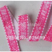 "5/8"" lace fold over elastic, 10colors popular lace foe elastic ribbon, OEM Custom print lace FOE"