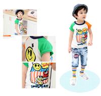 515# Free Shipping Moq 1 Pcs Summer & Clothing Baby Child Short-sleeve T-shirt