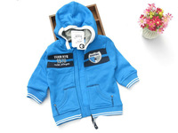 New arrival children outerwear & jacket boys coat 100% cotton long sleeve Hoodie