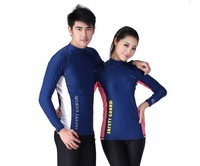 men's rash guard women sun-protective clothing swimming suit Long sleeve Lycra tops diving suit LS-605