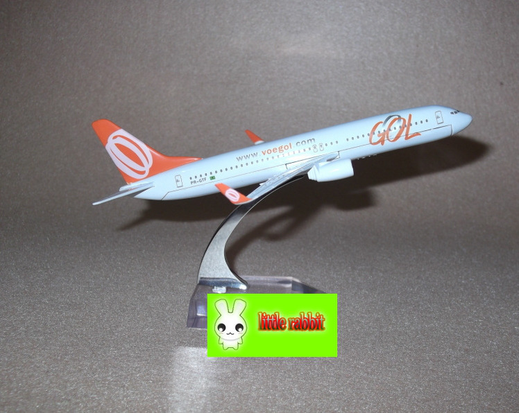 Brazil B737-800 GOL large metal aircraft model kit,16cm,new airplane model,Airlines air plane aeroplane model(China (Mainland))