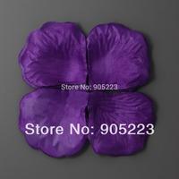 Wholesale/ retail  6000pc Purple silk rose petals Wedding Decoration  Free Shipping