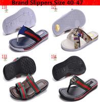 New 2014 Brand Man Slippers Brand Summer Beach Men Slippers Casual Slippers Men's Shoes Free shipping Size 40 to 47