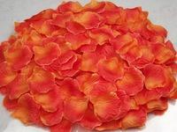 5000pc Orange silk rose petals Wedding Decoration  Free Shipping