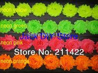 "30yards/lot  DHL free shipping 2.5""shabby chiffon rose trim,chiffon frayed flowers,baby girl hair accessories"