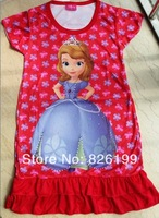 Retail,Frozen Dress sofia Summer Dress For Girl 2014 New Hot Princess Dresses Girls Dress Children Clothing Kids Wear