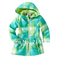 Free Shipping- 2014 Topolino hooded children / kids/girls wind jacket, girls windproof jacket, kids waterproof jacket(MOQ:1pc)
