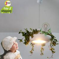 wholesale freeshipping 2014 new hotsell pot plant pendant lamp Rustic flowers pendant light fresh purified air drop lights