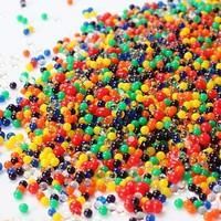 100g/lot Magic crystal soil hydrogel beads flower water gel beads wedding table centerpieces decor households aqua soil D011