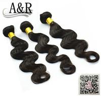 A&R Human extension 7a top grade unprocessed body wave real virgin brazilian hair