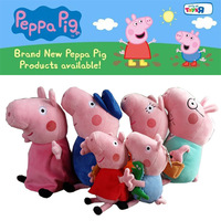 2014 Brinquedos Peppa Pig Plush Toys 6pcs/lot Full Family Toys & Hobbies Washable stuffed & plush animals Kids Toys