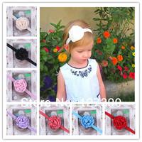 Infant Rose Flower Headbands Girl Flower Headbands Children Hair Accessories Newborn Satin Flower Hair band Toddler Headbands