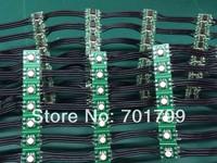 Black DC12V WS2811 led 5050 SMD pixel node;100pcs a string;black wires;5cm wire spacing