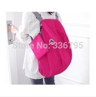 Free Shipping Large capacity shoulder bag messenger bag backpack multifunctional folding storage bag