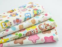 New Design 4 pieces 45CMX50CM Cartoon Cotton Fabric Fat Quarters Children Bedding Cloth Quilting Patchwork high quality W3B3-7
