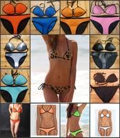 2014 Women's Fashion Triangle MILLY Neoprene Swimwear neoprene Bikinis Push Up Neoprene Swimsuit Set Bikini Set
