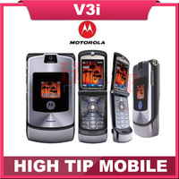 100% Original unlocked Motorola Razr v3i mobile phone English&Russian keyboard support Refurbished Free Shipping 1 year warranty