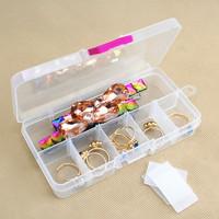Free shipGrid transparent plastic ear clip earrings jewelry earrings jewelry box storage box storage box wholesale mini earrings