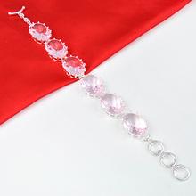 Best Sale Fashion Honey Style Jewelry Pink Topaz Crystal Bracelet As Woman s Wedding Party Jewelry