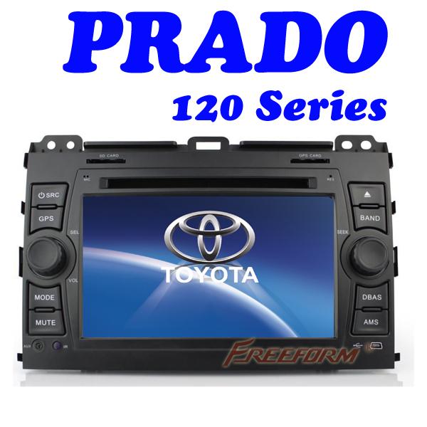 toyota land cruiser 100 2 din Car DVD Player gps radio for Toyota prado land cruiser 120 2002 -2009 stereo,Bluetooth Freeform(China (Mainland))