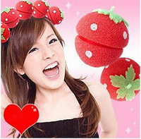 12pcs/lot Magic Beauty Strawberry Balls Soft Sponge Hair Curler Rollers Balls Free Shipping AY670868