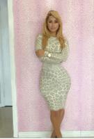 new 2014 dress party evening elegant print sexy club dress party dresses bandage bodycon dress clubwear YH012