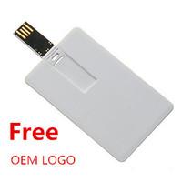 Promotion Gift Custom Logo Credit Card USB Flash Drive Thumb Stick USB Memory 2gb 4gb 8gb 16gb OEM LOGO free