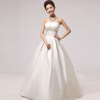 New bra dress floor-length shell slimming bride wedding dresses Free shipping PD0122