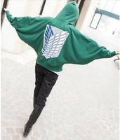 Cosplay anime costume attack on titan Wings of Liberty giant sweatshirt eren jaeger hoodie